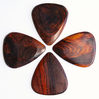 Timber Tones Burma Padauk Guitar Pick, Players Pack of 4