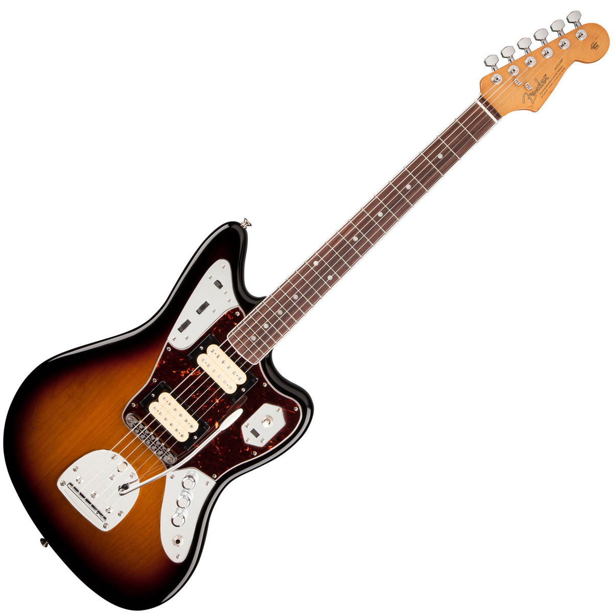 fender kurt cobain jaguar nos guitar 3 tone sunburst at. Black Bedroom Furniture Sets. Home Design Ideas