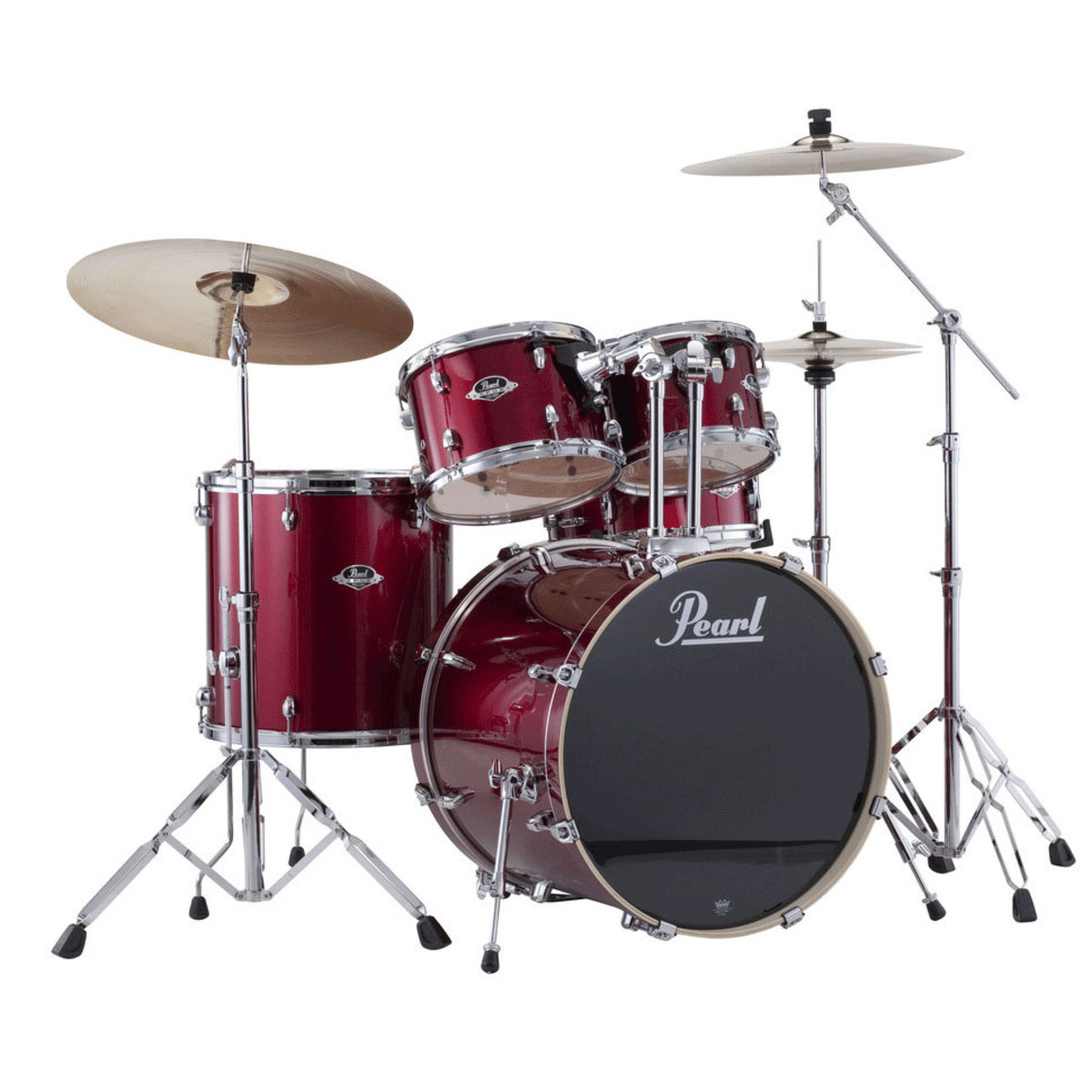 pearl export exx 22 39 39 fusion drum kit red wine at. Black Bedroom Furniture Sets. Home Design Ideas