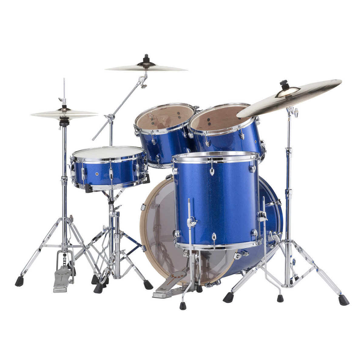pearl export exx 22 39 39 rock drum kit blue sparkle at. Black Bedroom Furniture Sets. Home Design Ideas