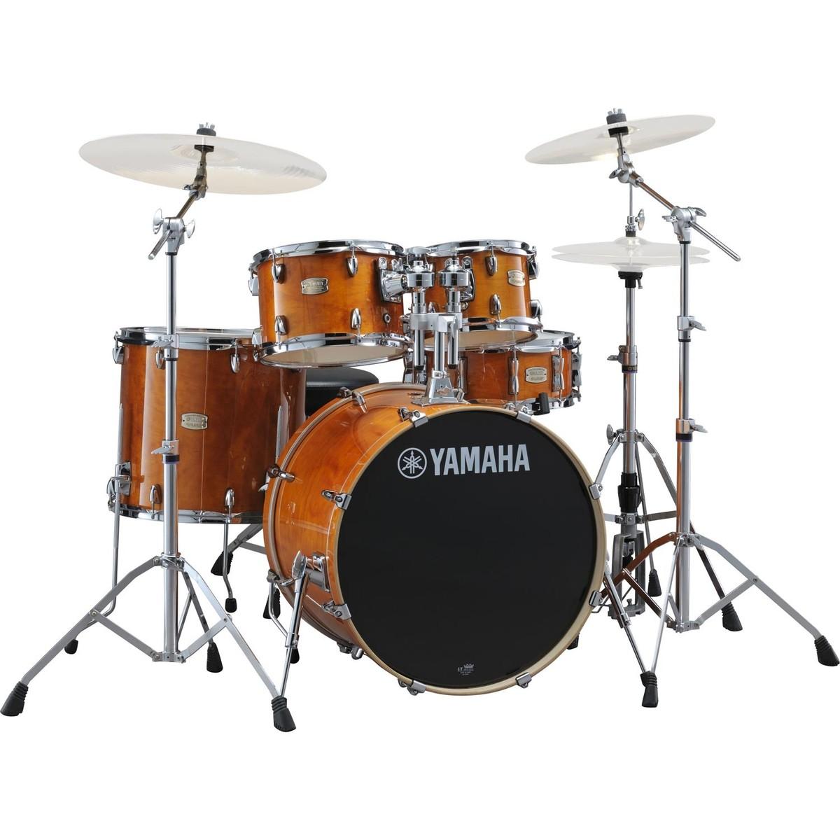 disc yamaha stage custom birch 22 39 39 5 piece drum kit