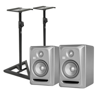KRK Rokit RP5 G3 Platinum Studio Monitors (Pair) Includes Stands