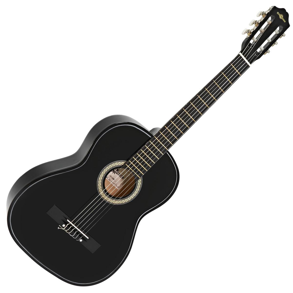guitare classique noir par gear4music comme neuf. Black Bedroom Furniture Sets. Home Design Ideas