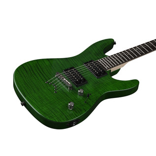Dean Custom 350 Electric Guitar, Trans Green