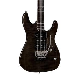 Dean Custom 380F Floyd Rose Electric Guitar, Trans Black