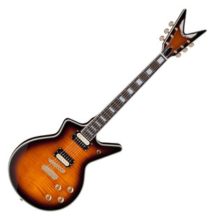 Dean Cadillac 1980 Flamed Top Electric Guitar, Trans Brazilia