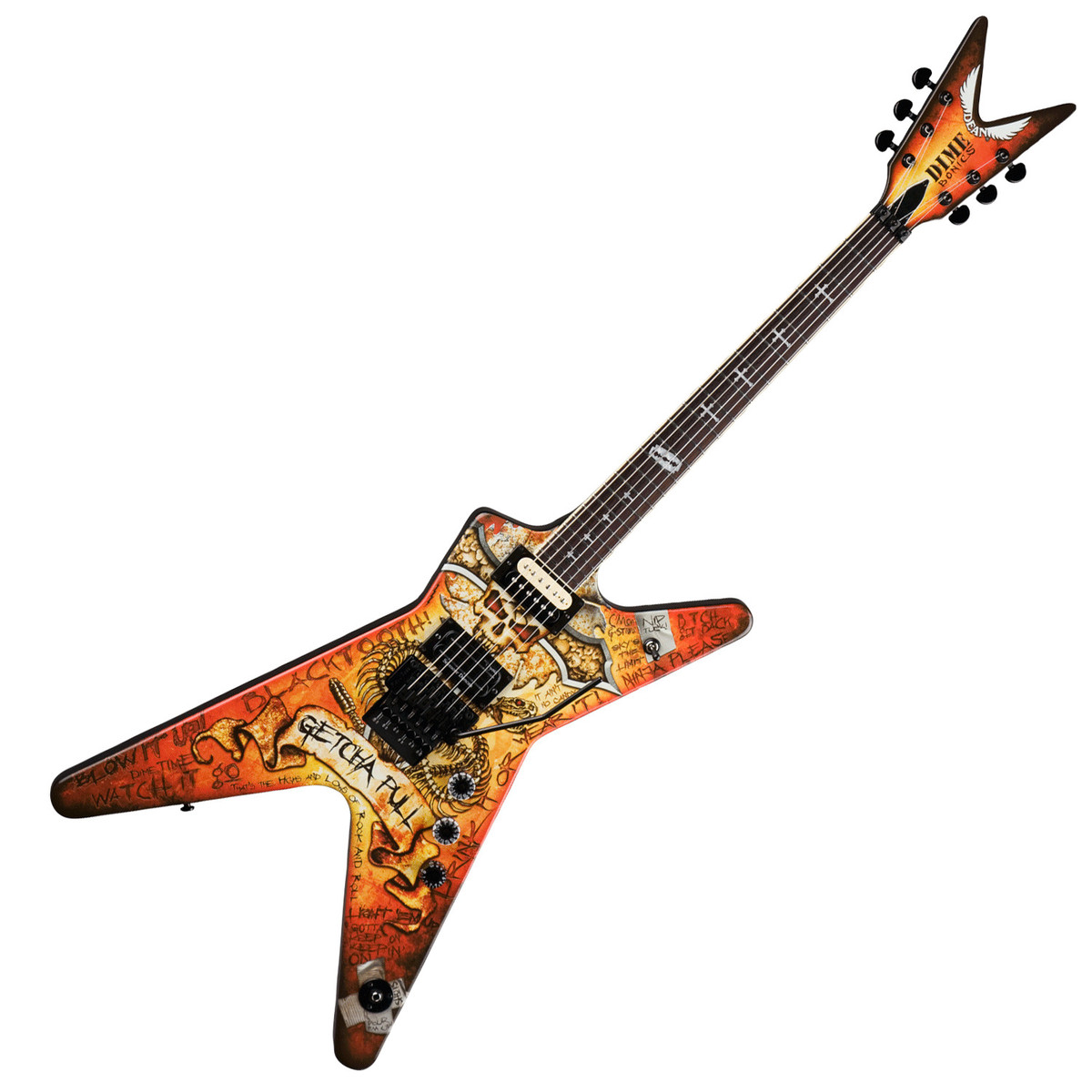dean dimebag dimebonics ml electric guitar with case at. Black Bedroom Furniture Sets. Home Design Ideas
