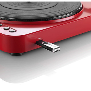 Lenco L-85 Turntable with USB Direct Recording, Red