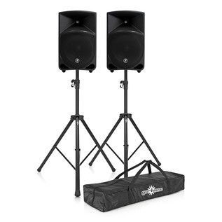 Mackie Thump 12 Active PA Speaker Pair with Speaker Stands