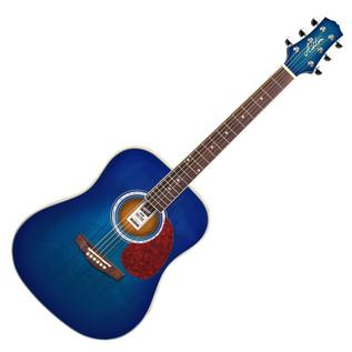 Ashton D24 Dreadnought Acoustic Guitar, Transparent Blue Burst