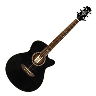 Ashton SL29CEQ Electro Acoustic Guitar, Black