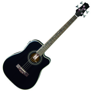 Ashton ACB100CEQ Electro Acoustic Bass Guitar, Black