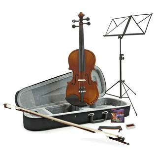 Deluxe 1/4 Violin, Antique Fade + Accessory Pack by Gear4Music