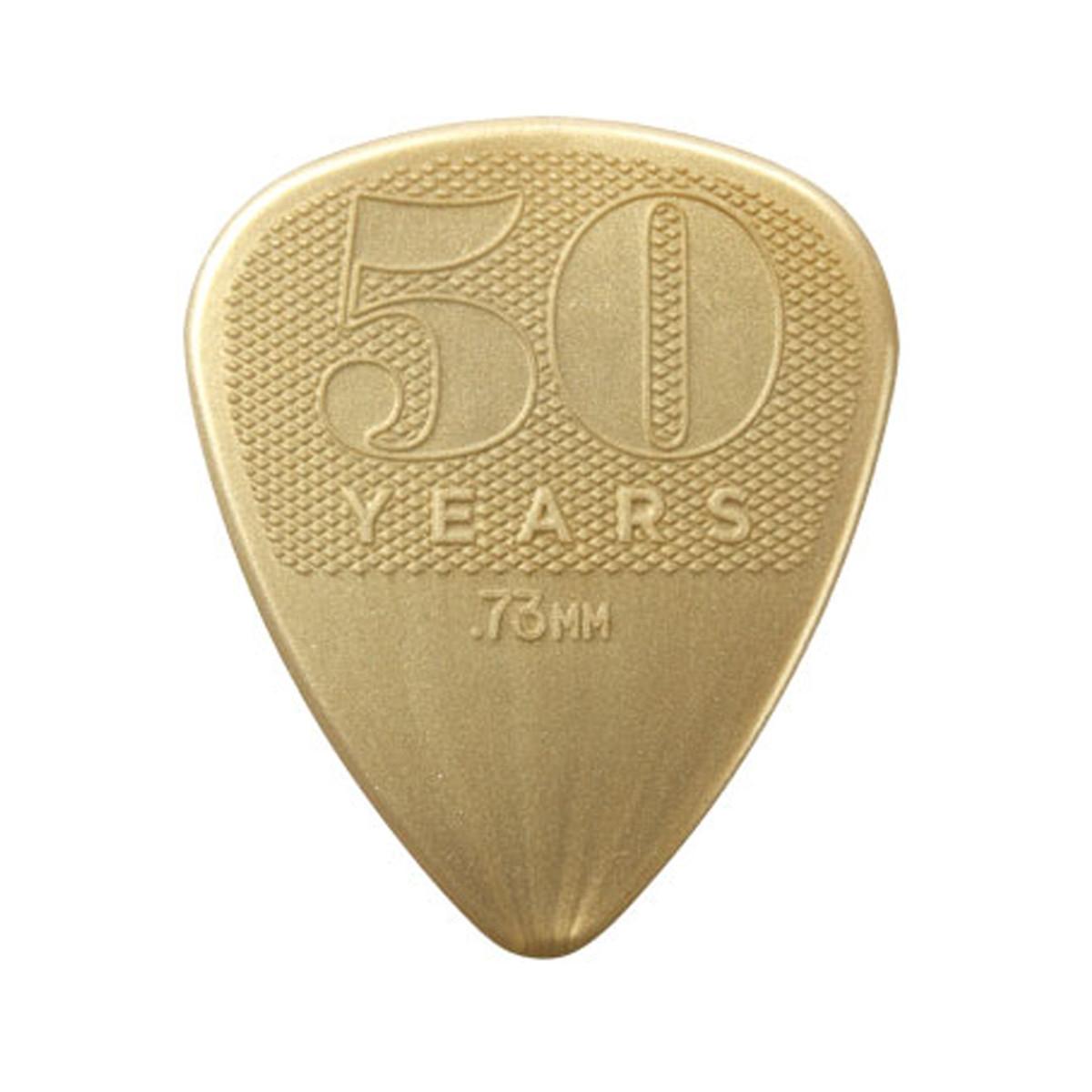 Image of Dunlop 50th Anniversary Gold Nylon Picks 0.73mm