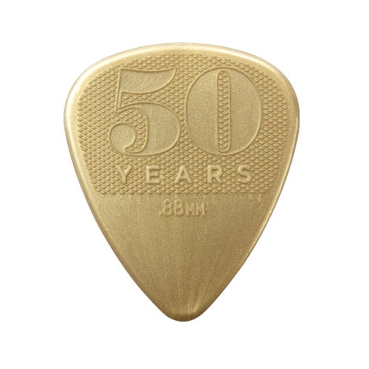 Image of Dunlop 50th Anniversary Gold Nylon Picks 0.88mm
