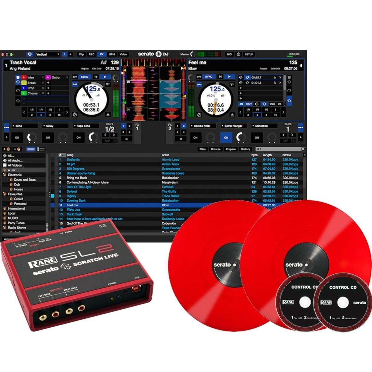 rane serato scratch live sl2 digital vinyl system red at. Black Bedroom Furniture Sets. Home Design Ideas
