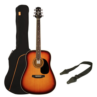 Ashton SPD25 Acoustic Guitar Starter Pack, Tobacco Sunburst