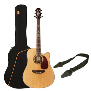 Ashton SPD25CEQ Electro Acoustic Guitar Starter Pack, Natural