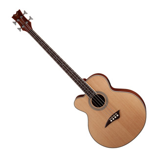 Dean CAW Left Handed Electro Acoustic Bass Guitar, Satin Natural