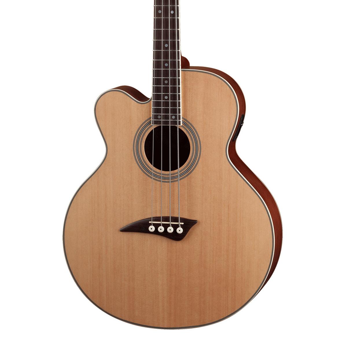 dean caw left handed electro acoustic bass guitar satin natural at. Black Bedroom Furniture Sets. Home Design Ideas