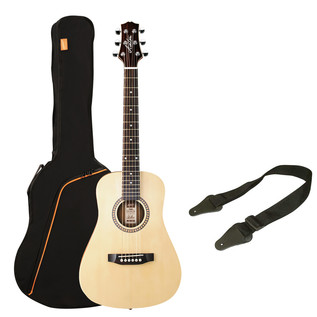 Ashton SPJOEYCOUSTIC 3/4 Acoustic Guitar Starter Pack, Natural Matte