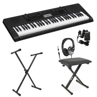 Casio CTK-3200 Portable Keyboard + Bench, Stand and PSU