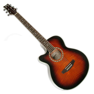 Ashton SL29CEQL Left Handed Electro Acoustic Guitar, Tobacco Sunburst