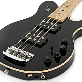 Music Man Reflex Game Changer HH Bass Guitar, MN, Black
