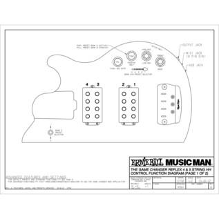 Music Man Reflex Game Changer HH Bass Guitar, MN, Black