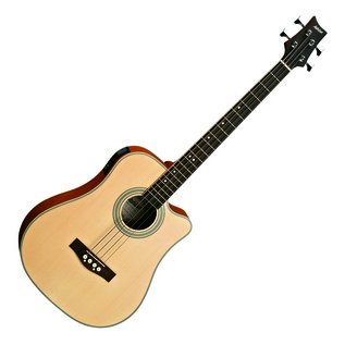 Ashton ACB100CEQ Electro Acoustic Bass Guitar, Natural Matte