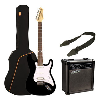 Ashton SPAG232 Electric Guitar Starter Pack, Black