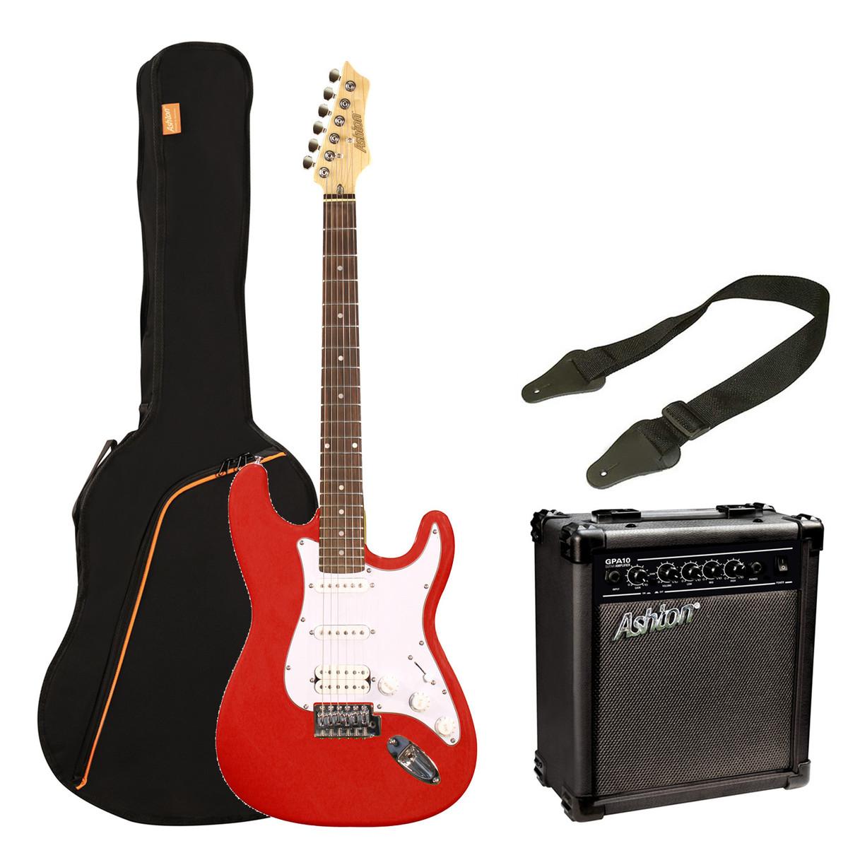 ashton spag232 electric guitar starter pack transparent red at. Black Bedroom Furniture Sets. Home Design Ideas