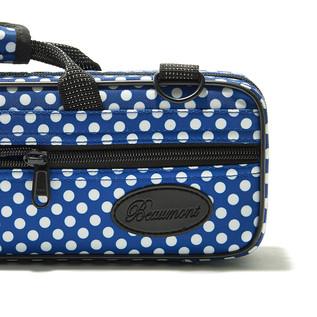 Beaumont Blue Polka Dot Flute Case