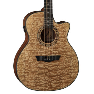 Dean Exotica Ultra Quilt Ash Electro Acoustic Guitar, Gloss Natural