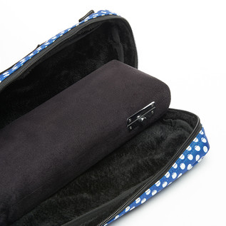 Beaumont Blue Polka Dot C Flute Bag