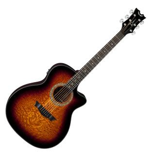 Dean Exotica Ultra Quilt Ash Electro Acoustic Guitar, Trans Brazillia