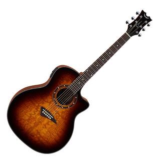 Dean Exotica Quilt Ash Electro Acoustic Guitar, Trans Brazilia