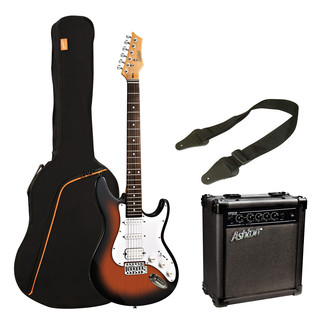Ashton SPAG232 Electric Guitar Starter Pack, Tobacco Sunburst
