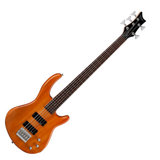 Dean Edge 1 5-String Bass Guitar, Trans Amber