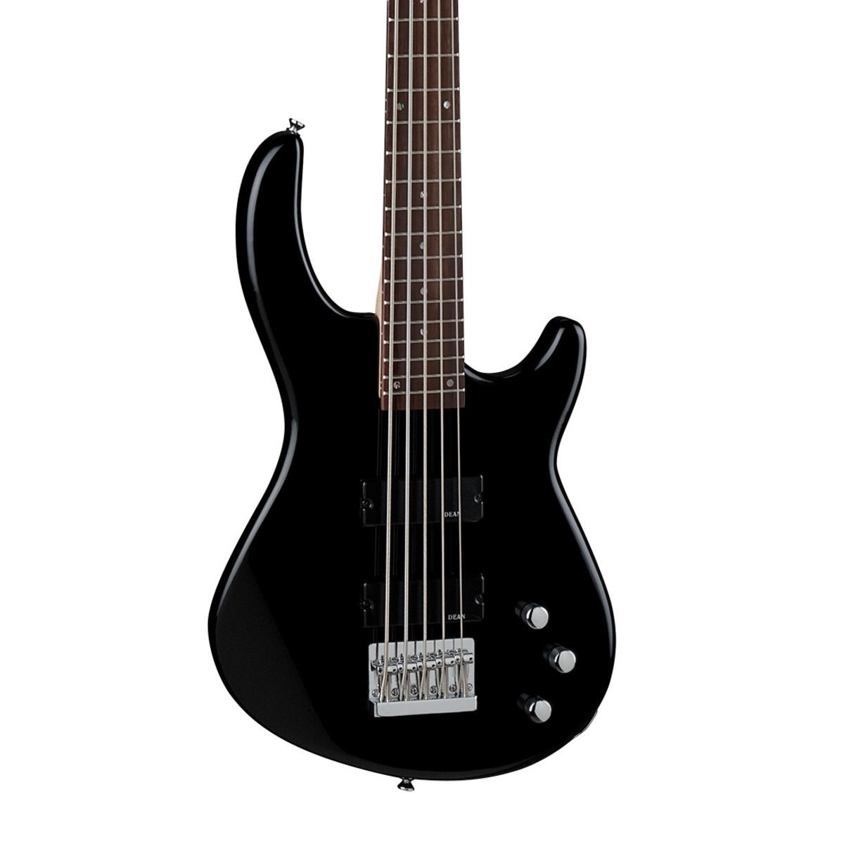 dean edge 1 5 string bass guitar classic black at. Black Bedroom Furniture Sets. Home Design Ideas