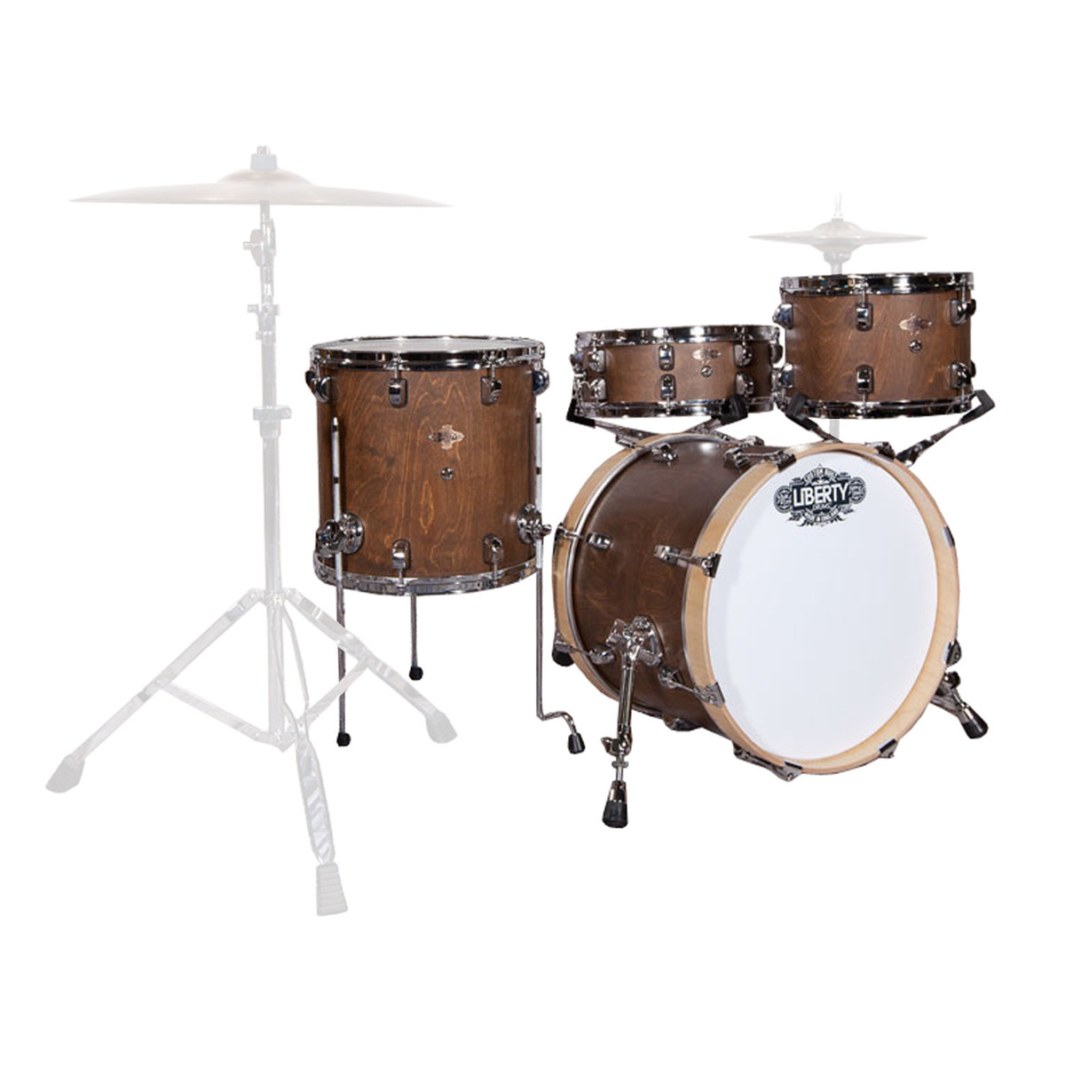 liberty drums 4pc jazz series drum kit walnut over birch at. Black Bedroom Furniture Sets. Home Design Ideas
