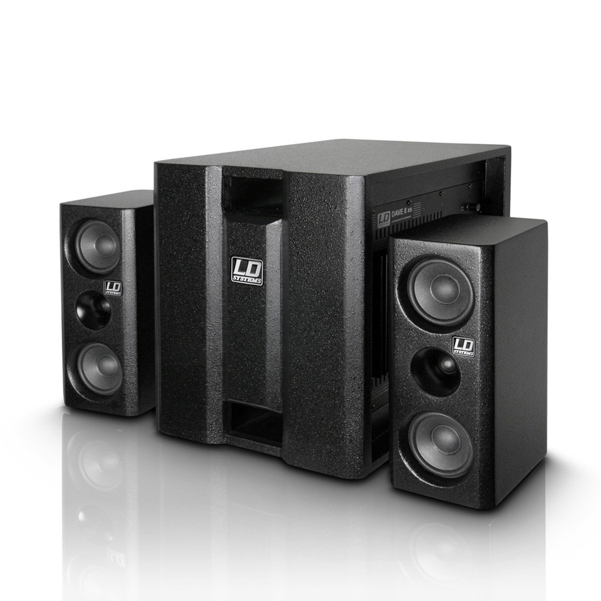 ld systems dave8xs compact active pa system black at. Black Bedroom Furniture Sets. Home Design Ideas