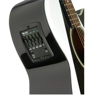 Dean Michael Schenker Performer Electro Acoustic Guitar, White/Black