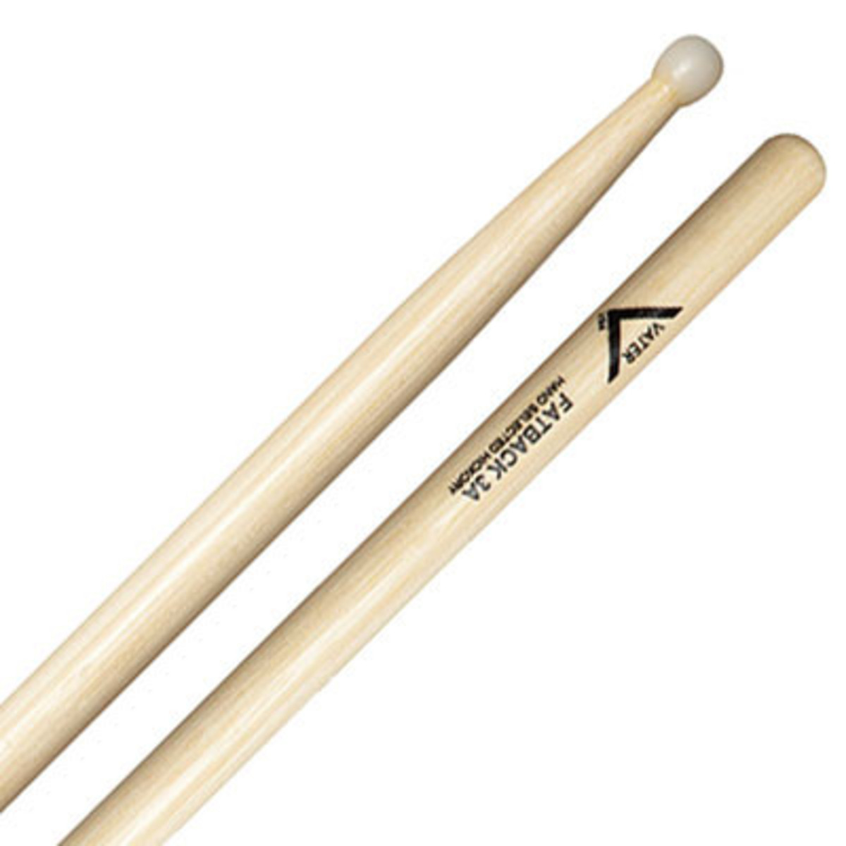 Vater hickory 3a fatback bacchette con punte in nylon a for Vater o bater