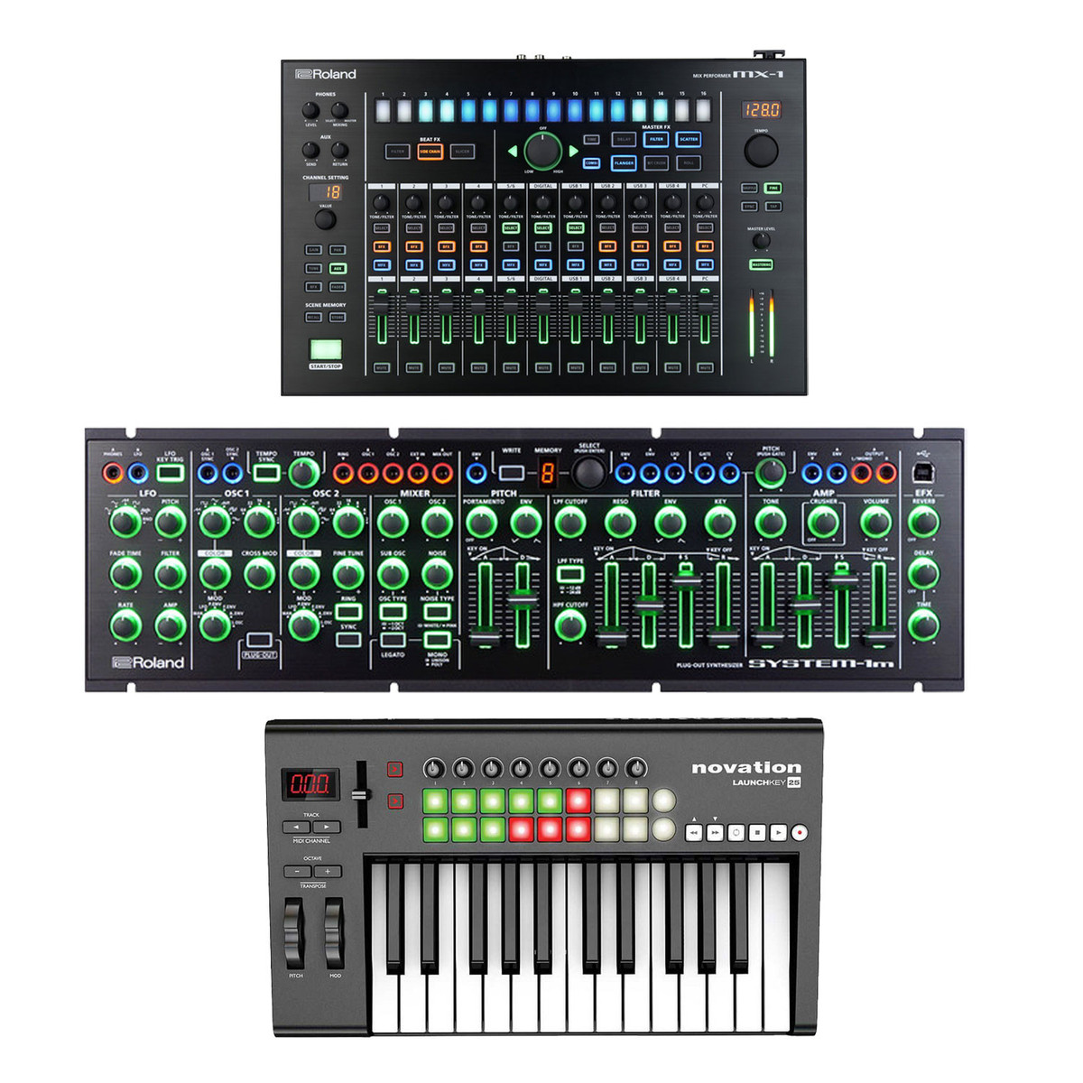 Roland Intros Aira Mx 1 Mix Performer The Nerve Center: DISC Roland AIRA MX-1 Mix Performer Bundle With System 1M
