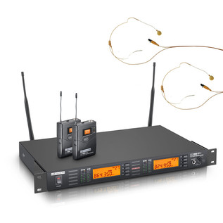 LD Systems Dual Wireless Microphone System with Belt Pack and Headset