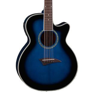 Dean Performer Electric Acoustic Guitar, Blue Burst