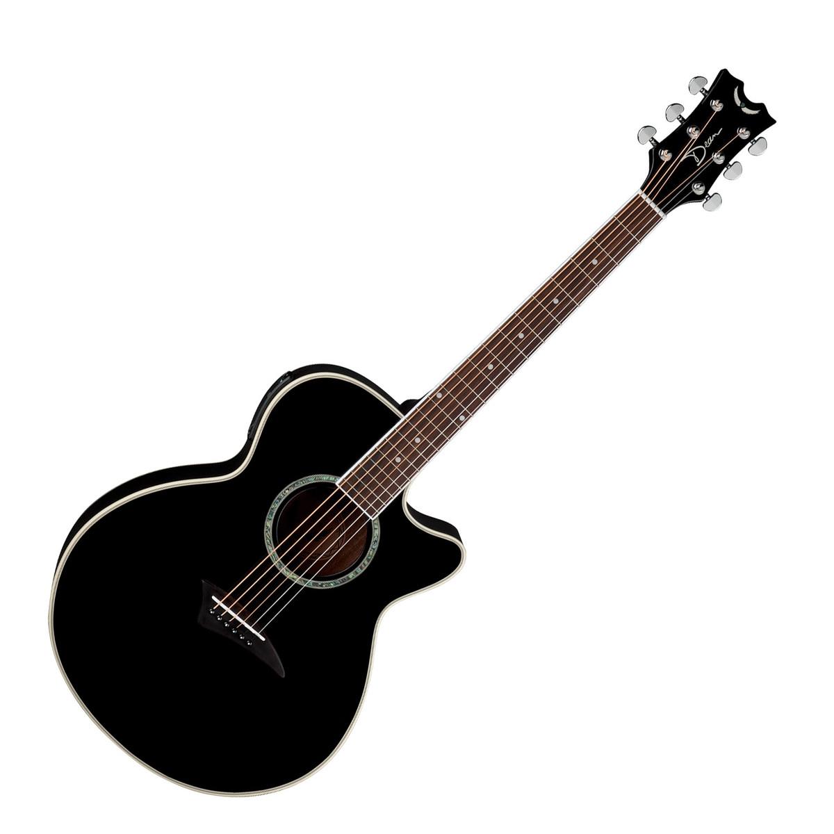 dean performer electric acoustic guitar classic black at. Black Bedroom Furniture Sets. Home Design Ideas