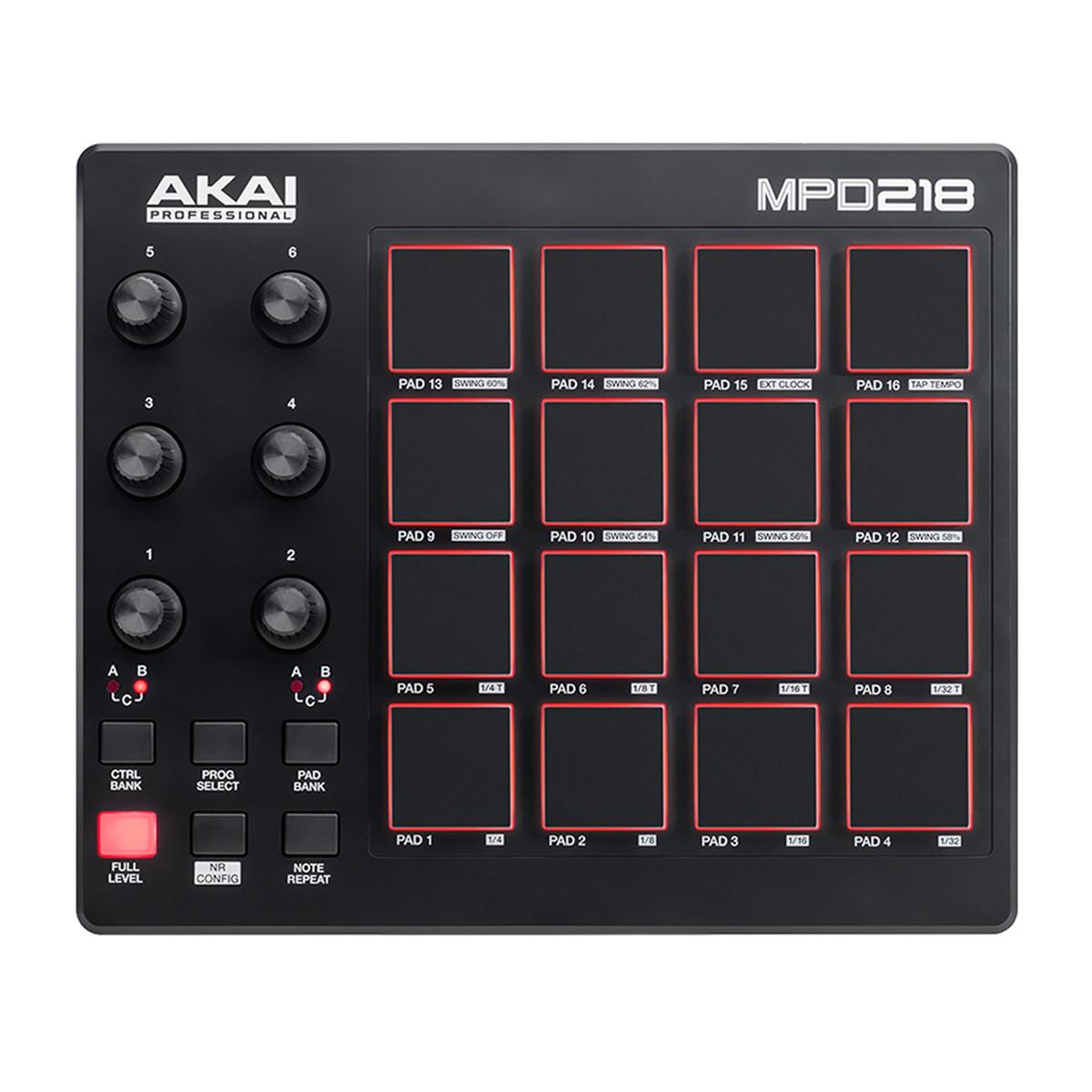 Image of Akai MPD218 Pad Controller