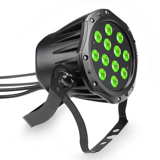 Cameo 12 x 3W Tri-Colour RGB LED Outdoor Par Can, Black